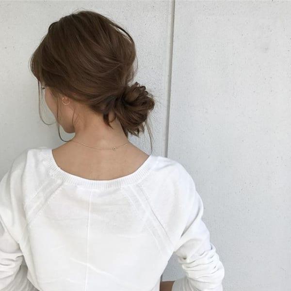 夏にぴったりのミディアムヘアアレンジ7