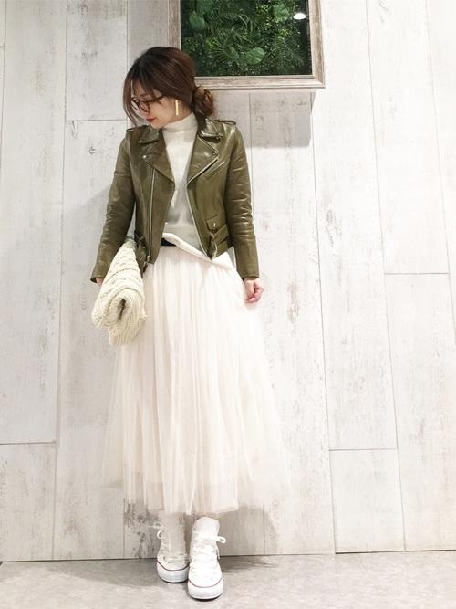 [coca] 選べる6カラー◆ふんわりチュールスカート