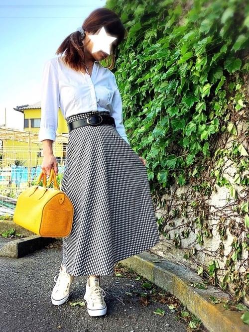 《初夏》気温27度の服装:スカートスタイル 曇り2