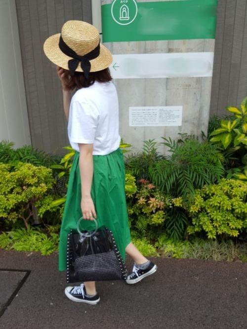 《初夏》気温27度の服装:スカートスタイル 晴れ2