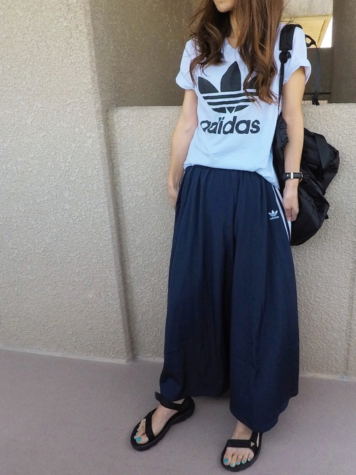 リュック×スカートの夏コーデ5