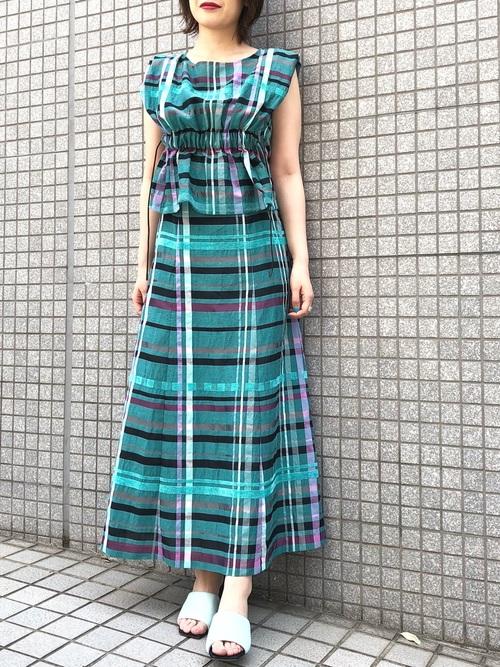 11[UNITED TOKYO] チェックキャミワンピース