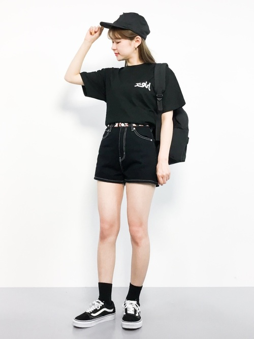 [X-girl] LOGO TAPE SHORT PANTS