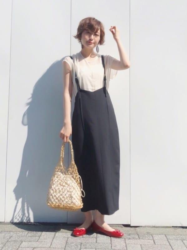 夏の黒スカートコーデ7