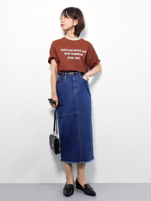 WEGO/レースハイネックレイヤードロゴTシャツ