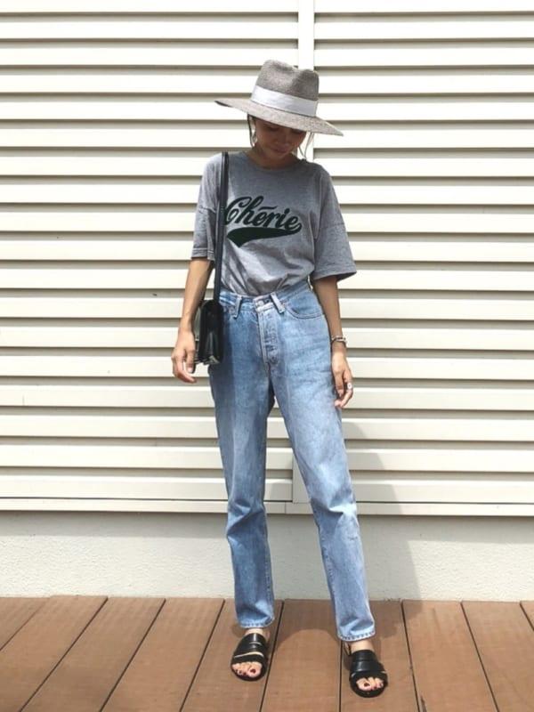 夏の帽子コーデ17