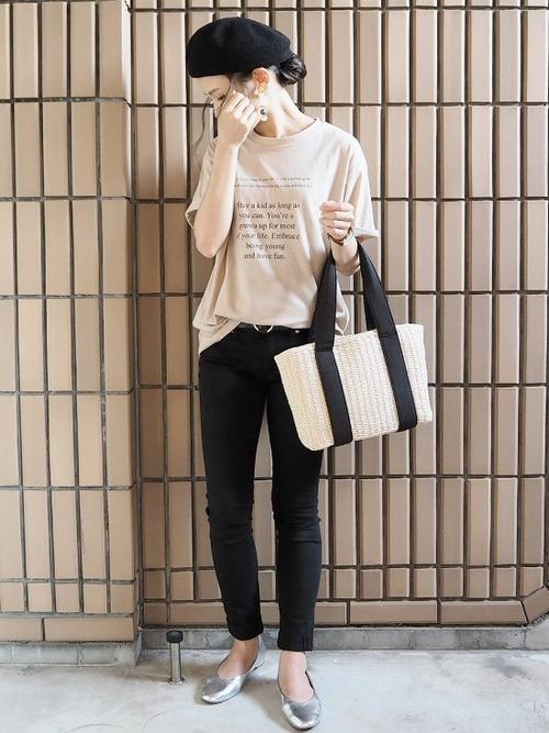 [MODE ROBE] メッセージプリントTシャツ