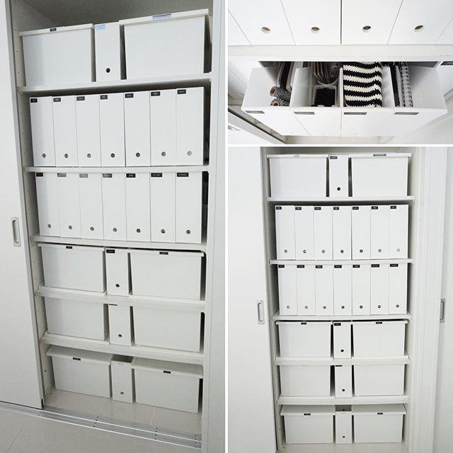 ホワイトカラーで収納ボックスを統一