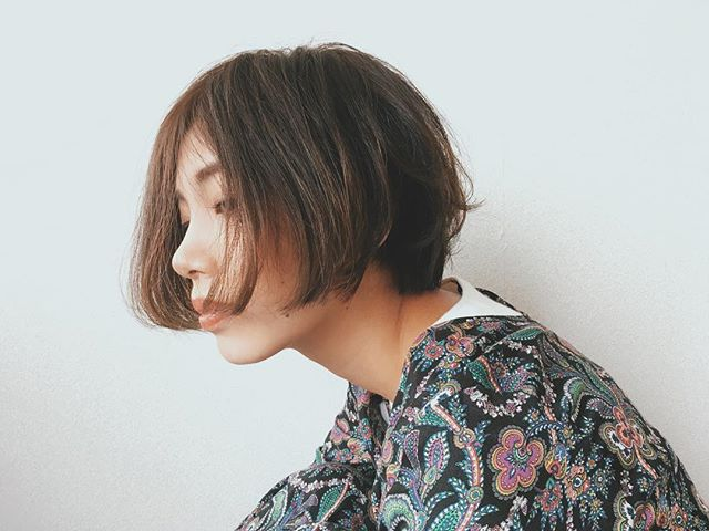 前髪なし ナチュラルボブ3