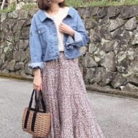 【GU】2大春アイテム☆フロントボタンブラウス&花柄スカートの着回しコーデ
