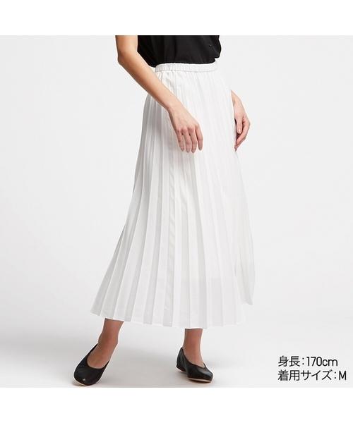 ユニクロ プリーツロングスカート