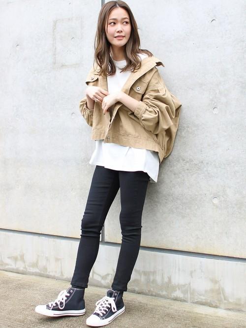 [Social GIRL] シンプルベーシックコットンUネックTシャツ