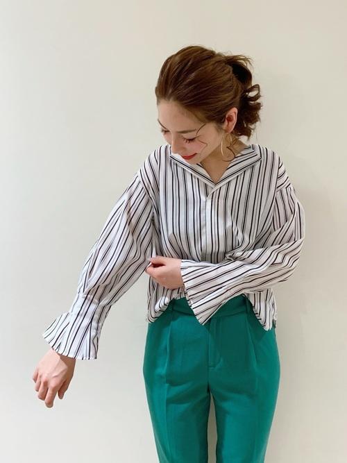 [Te chichi] プリペラ裾釦ペンシルパンツ