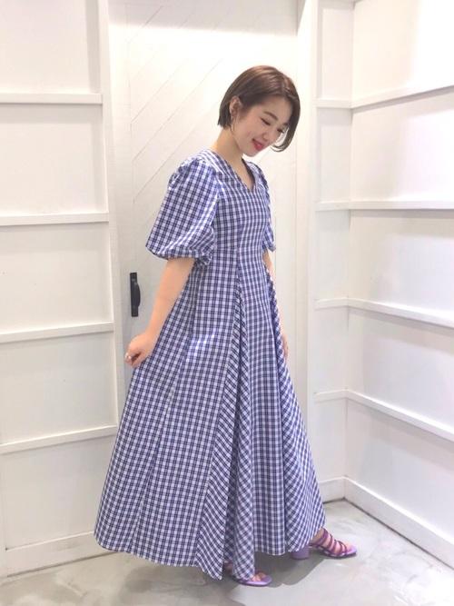 6[BANNER BARRETT] 【MAKI KANEKO ×BANNER BARRETTコラボ】チェックマキシワンピース
