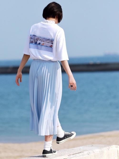 ユニクロのスカートを使ったコーディネート14