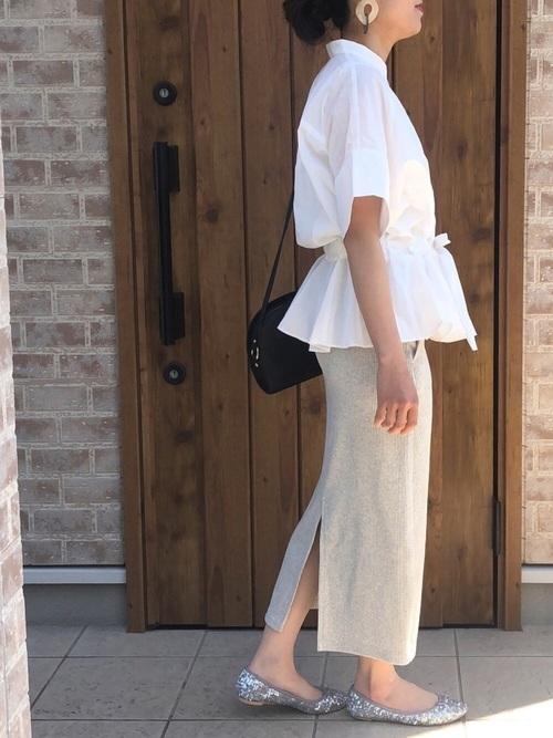 ユニクロのスカートを使ったコーディネート8