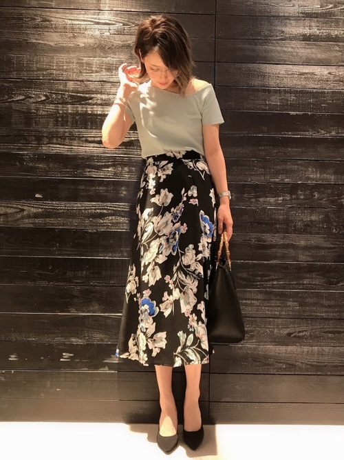 [COLONY 2139] 花柄フレアスカート