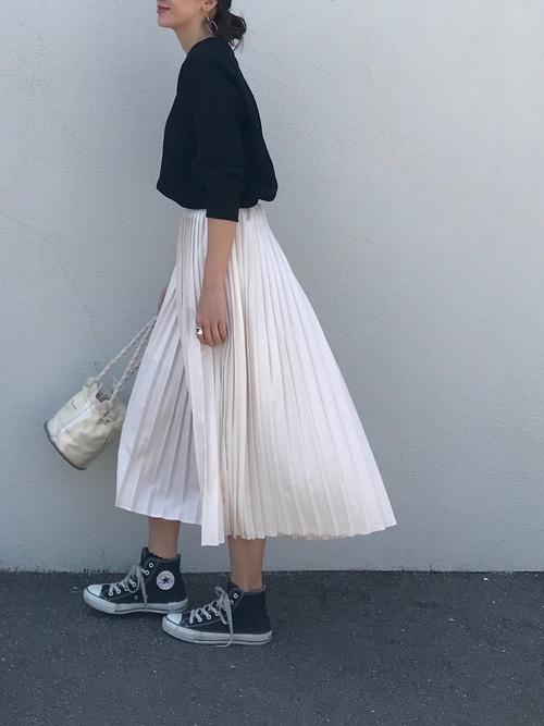 30[Chaco closet] プリーツロングスカート