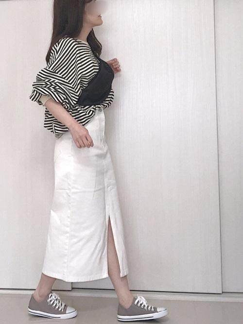 44[PAGEBOY] デニムナロースカート