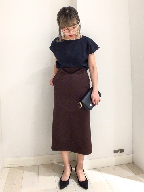 [GLOBAL WORK] サマーカットタイトスカート