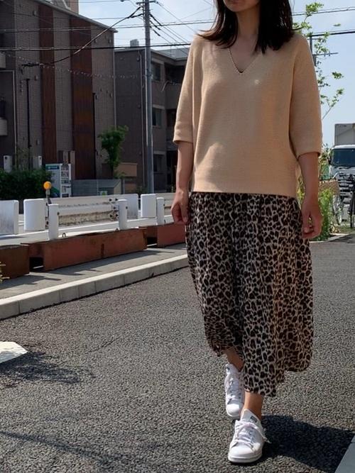 [INGNI] 【1/25ヒルナンデスご紹介商品】ヒョウ柄ロング/スカート