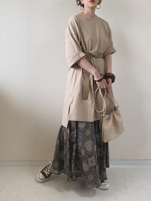 6[RETROGIRL] アラベスクプリーツスカート