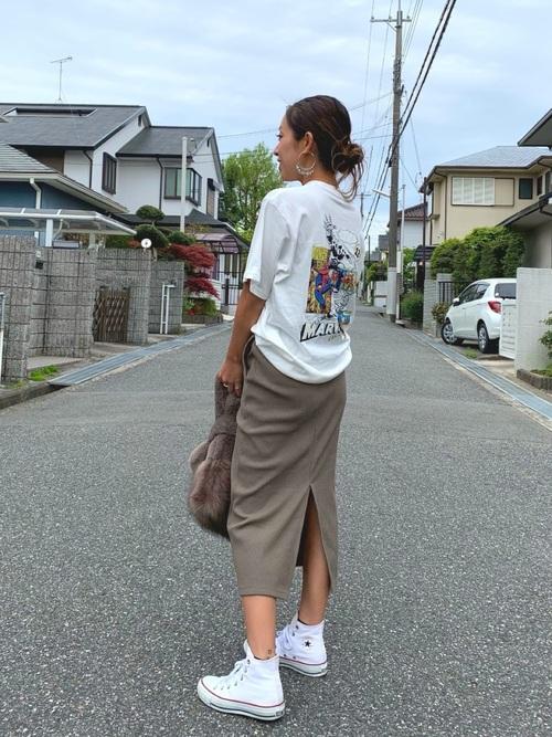 【ユニクロアイテム】大人の雰囲気!タイトスカート