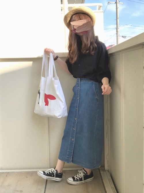 ユニクロのスカートを使ったコーディネート2
