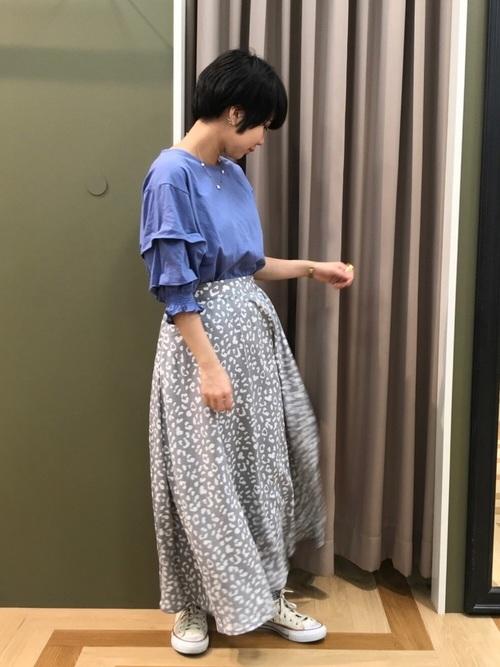 [Green Parks] ・レオパードフレアロングスカート6