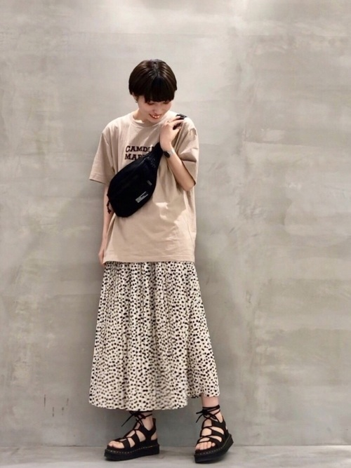 [THE SHOP TK] 柄プリーツスカート