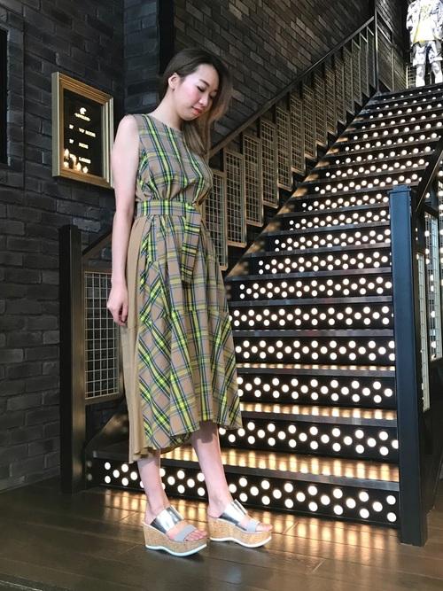 2[GUILD PRIME] 【LOVELESS】WOMEN 2wayチェックリボンドレス
