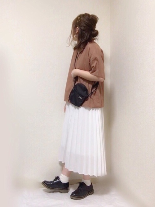 GU 開襟シャツ コーデ3