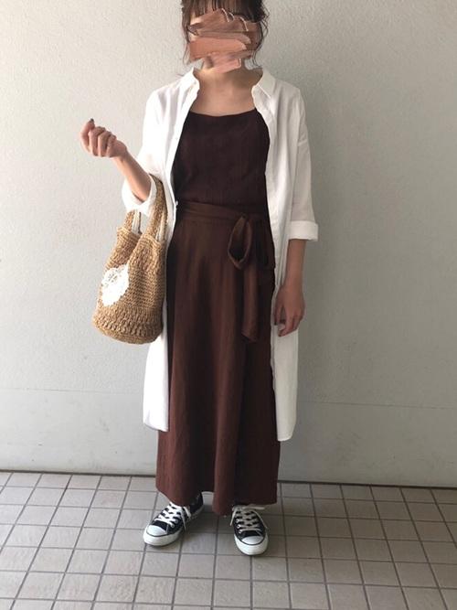 GU ブラウン スカート