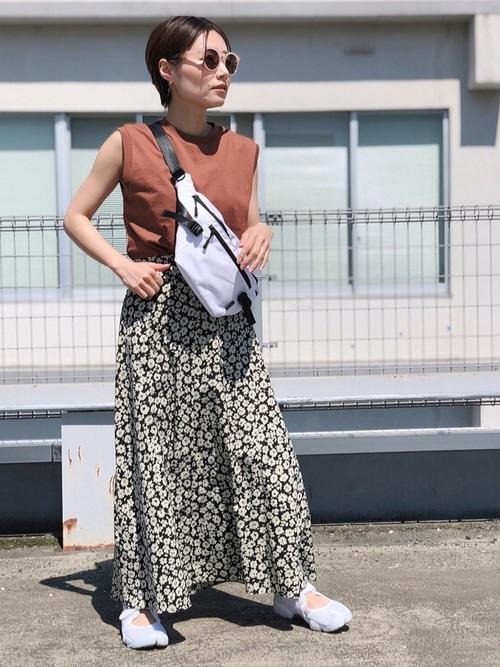 [LOWRYS FARM] ハナクルミボタンAラインスカート 8289892