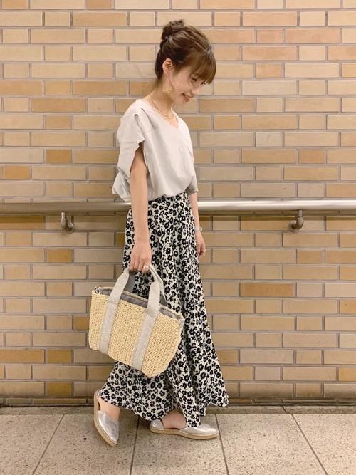 [LOWRYS FARM] ハナクルミボタンAラインスカート 828989