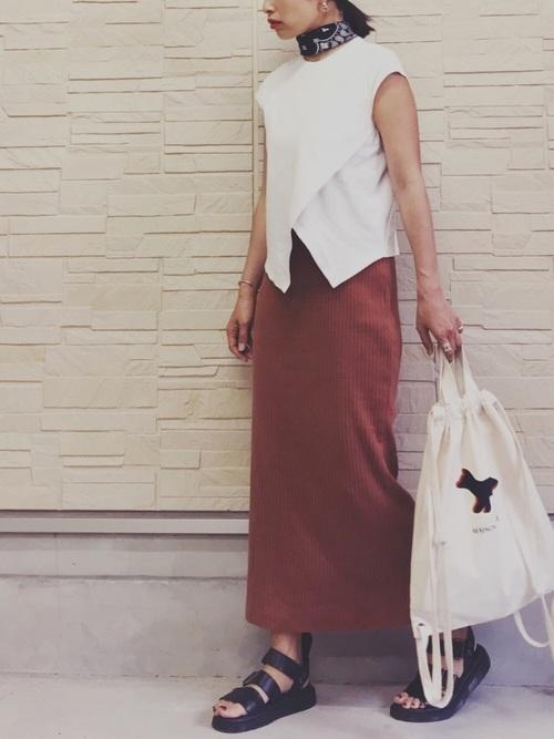 リュック×スカートの夏コーデ4