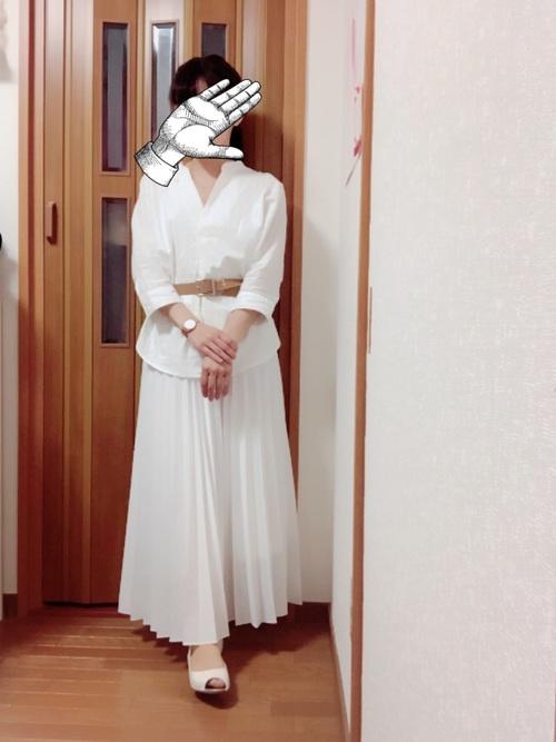 ユニクロ プリーツロングスカート3