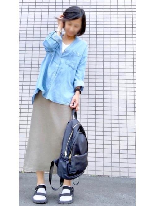 シャツ ブルー系4