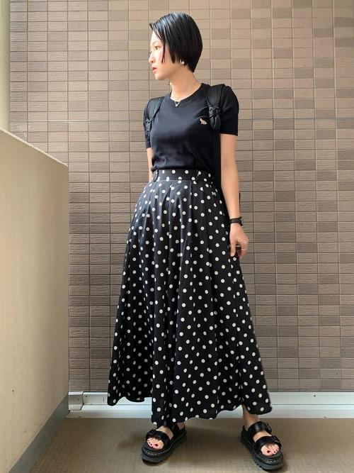 リュック×スカートの夏コーデ2