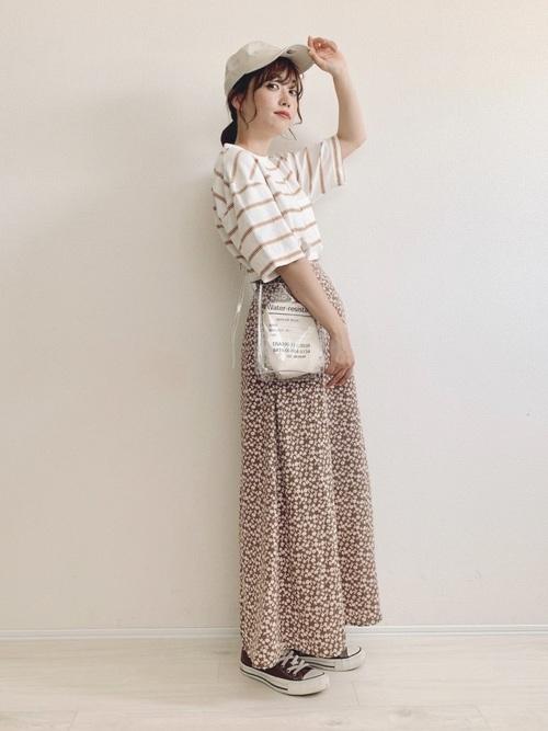 花柄スカート5