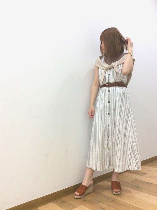 夏 カーディガンコーデ GU4