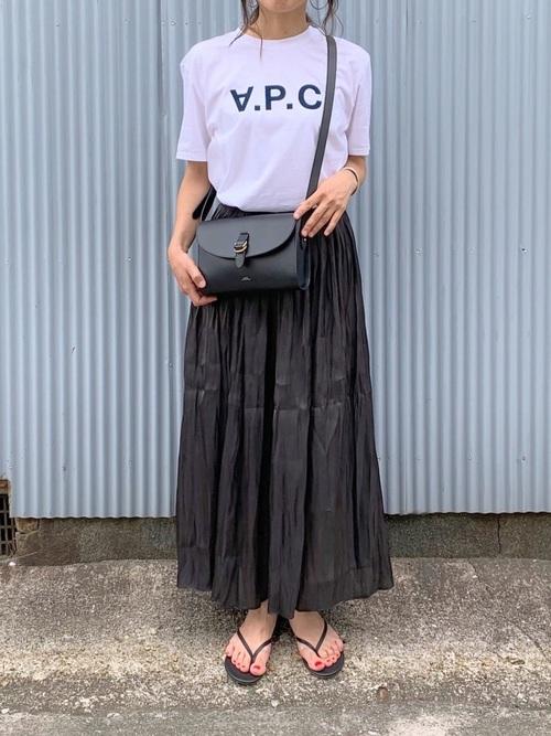 [YARD PLUS] AUNT MARIE'S シャイニーサテンロングスカート