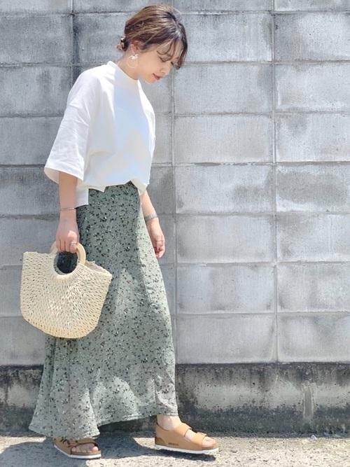 [YARD PLUS] AUNT MARIE'S クルミボタンFlowerマーメイドスカート