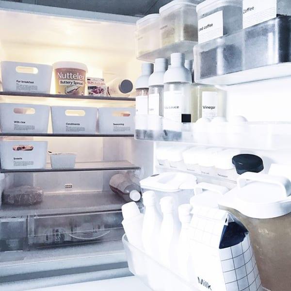 冷蔵庫もしっかり整理整頓