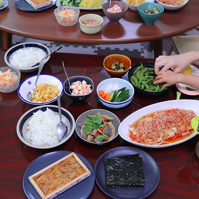 酢飯と盛り付けだけ!手巻き寿司