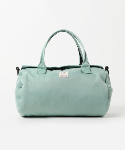 [and it_] 【anello】ポリエステルツイル×ミニネーム ショルダー付2WAYミニドラムバッグ