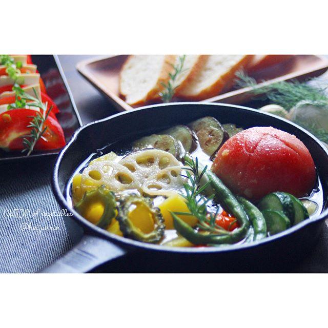 夏野菜のアヒージョ