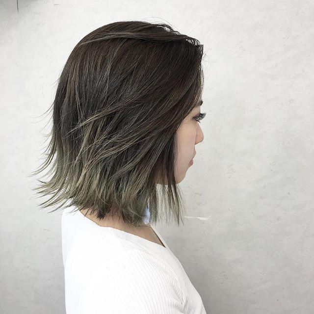 黒髪 グラデーション10