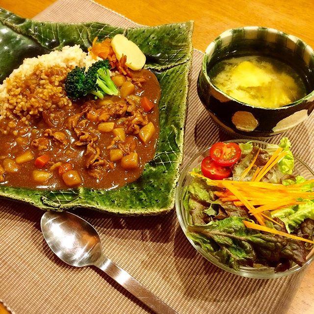 マクロビオティック 玄米 カレー