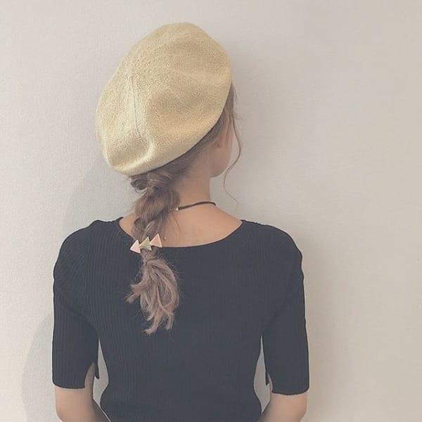 夏にぴったりのミディアムヘアアレンジ6